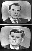 Debate Posters - Nixon-Kennedy Debate On TV Poster by Underwood Archives