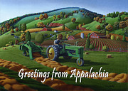 John Deere Paintings - no 21 greetings from Appalachia 5x7 greeting card  by Walt Curlee