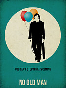 Famous Actors Posters Framed Prints - No Country for Old Man Poster 2 Framed Print by Irina  March