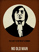 Famous Actors Posters Framed Prints - No Country for Old Man Poster Framed Print by Irina  March