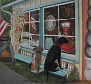 Store Pastels - No Dogs Allowed by Teresa LeClerc