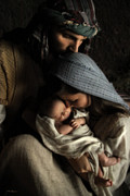Baby Jesus Photo Prints - No Greater Gift Print by Helen Thomas Robson