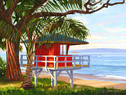 Kamaole Beach Art - No Guard on Duty - Kamaole Beach by Steve Simon