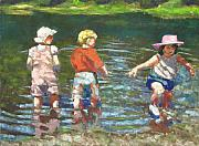 Water Play Pastels - No I Dont Think I Like This by Mary McInnis