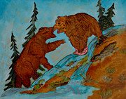 Bear Pyrography Originals - No Its Mine by Mike Holder