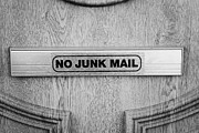 Junk Photos - No Junk Mail On Letter Box Dublin Republic Of Ireland by Joe Fox