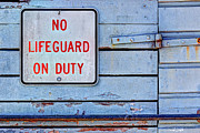 Hinged Framed Prints - No Lifeguard On Duty Framed Print by Heidi Smith
