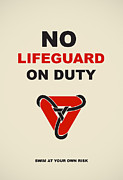 Information Digital Art Posters - No Lifeguard On Duty   Poster by Igor Kislev
