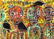 Outsider Art Mixed Media - No Loitering by Robert Wolverton Jr