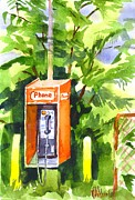 Telecommunications Prints - No Longer in Service Watercolor  Print by Kip DeVore