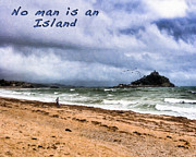 John Digital Art - No Man Is An Island - St Michaels Mount by Mark E Tisdale