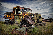 Dump Truck Framed Prints - No More Loads to Dump Framed Print by Ken Smith