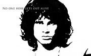 Jim Morrison Prints - No one here gets out alive Print by Petur Mar Gunnarsson