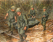 U.s Army Painting Metal Prints - No one left behind Metal Print by Bob  George
