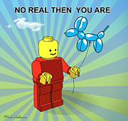 Lego Digital Art Posters - No Real Then You Are Poster by Mark Ashkenazi