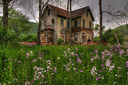 Dilapidated Digital Art - No Trespassing by David Simons