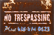 No Trespassing Prints - No Tresspassing Print by Garry McMichael