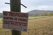 Barbed Wire Fences Prints - No Tresspassing Print by Jason O Watson
