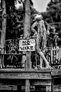 Christopher Holmes Metal Prints - No Wake - BW Metal Print by Christopher Holmes