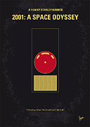 Movie Poster Prints - No003 My 2001 A space odyssey 2000 minimal movie poster Print by Chungkong Art