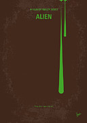 Warning Art - No004 My Alien minimal movie poster by Chungkong Art