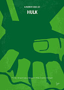 Monster Digital Art Posters - No040 My HULK minimal movie poster Poster by Chungkong Art