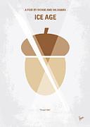No041 My Ice Age Minimal Movie Poster Print by Chungkong Art