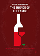 Hollywood Digital Art Metal Prints - No078 My Silence of the lamb minimal movie poster Metal Print by Chungkong Art