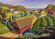 Old North Bridge Paintings - no1 Old Fashioned Wishes by Walt Curlee