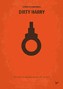 Simple Digital Art Metal Prints - No105 My Dirty Harry movie poster Metal Print by Chungkong Art
