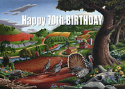 New Jersey Painting Originals - no11 Happy 70th Birthday by Walt Curlee