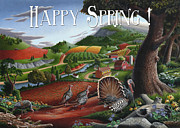 New Jersey Painting Originals - no11 Happy Spring by Walt Curlee