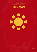 Symbol Digital Art Posters - No113 My Iron man minimal movie poster Poster by Chungkong Art