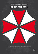 Umbrella Prints - No119 My RESIDENT EVIL minimal movie poster Print by Chungkong Art