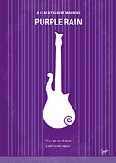 Music Time Metal Prints - No124 My PURPLE RAIN minimal movie poster Metal Print by Chungkong Art