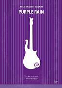 No124 My Purple Rain Minimal Movie Poster Print by Chungkong Art