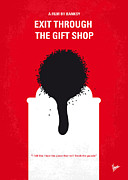 Exit Framed Prints - No130 My Exit Through the Gift Shop minimal movie poster Framed Print by Chungkong Art