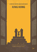 King Metal Prints - No133 My KING KONG minimal movie poster Metal Print by Chungkong Art