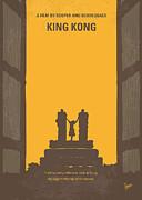No133 My King Kong Minimal Movie Poster Print by Chungkong Art