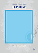 St Tropez Posters - No137 My La piscine minimal movie poster Poster by Chungkong Art