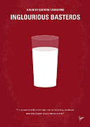 Milk Prints - No138 My Inglourious Basterds minimal movie poster Print by Chungkong Art