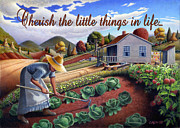 Heartland Paintings - no13A Cherish the little things in life by Walt Curlee