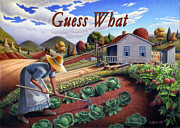 Heartland Paintings - no13A Guess What by Walt Curlee