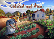 Heartland Paintings - no13A Old Fashioned Wishes by Walt Curlee