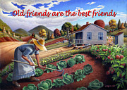 Heartland Paintings - no13A Old friends are the best friends by Walt Curlee