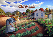 Heartland Paintings - no13A Old Friends by Walt Curlee