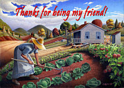 Heartland Paintings - no13A Thanks for being my friend by Walt Curlee