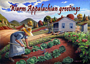 Ohio Paintings - no13A Warm Appalachian greetings by Walt Curlee
