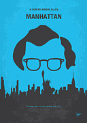 New York City Digital Art Posters - No146 My Manhattan minimal movie poster Poster by Chungkong Art