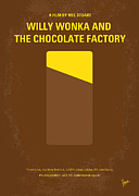 Hollywood Digital Art Posters - No149 My willy wonka and the chocolate factory minimal movie poster Poster by Chungkong Art